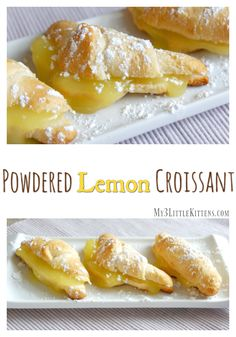 This delicious powdered lemon croissant is a crowd pleaser for any occasion. The lemon curd meets icing sugar doesn't hurt a bit either!
