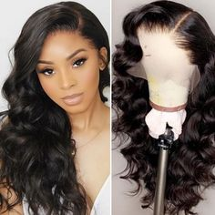 Magic Love Human Virgin Hair Loose Curl Pre Plucked Lace Front Wig For Black Woman Free Loose Curls Hairstyles, Weave Hairstyles, Lace Front Wigs, Lace Wigs, Human Braiding Hair, Best Virgin Hair, Affordable Wigs, Black Curly Hair, Hair Shows