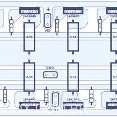 1000W Audio Amplifier Component Placement
