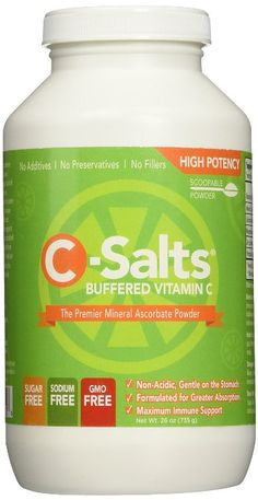 C-Salts® GMO FREE Buffered Vitamin C Powder (1000mg - 4000mg) | 140+ Servings, 1.6 lbs (26oz) | The Highest Quality, Best Value Mega Dose/High Dose Form Of Vitamin C Supplement On The Market Today