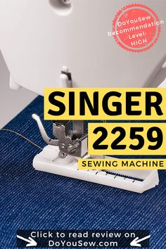 Although it can be tempting to go for an all singing, all dancing sewing machine when you're looking into purchasing one, that isn't always necessary. Sometimes, a machine that does all the basics and a little bit more is all you need. Singer 2259 is one of these machines. You won't find computer screens on this little fella, but you'll get a competent sewing machine that does everything you need it do, and gives you room to grow as you get better. #sewingmachine #sewingmachinereview #doyousew Sewing Blogs, Easy Sewing Projects, Sewing Projects For Beginners, Sewing Tips, Sewing Hacks, Sewing Machine Reviews, Janome, Sewing Notions, Learn To Sew