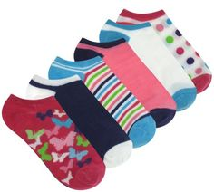 Capelli New York Butterfly Patches 6 Pack No Show Socks