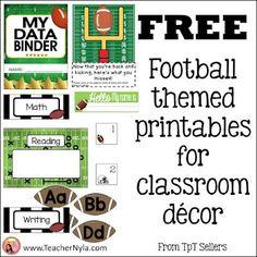 Football Themed Classroom Ideas and free printables Sports Theme Classroom, Classroom Jobs, Middle School Classroom, Classroom Decor, Free Teaching Resources, Teaching Ideas, Fourth Grade, Second Grade, Dentist Jokes