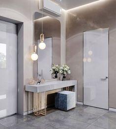Easy Contemporary Home Decor Ideas Entrance Hall Decor, Entryway Decor, Modern Home Interior Design, Contemporary Home Decor, Flur Design, Diy Design, Design Ideas, Living Room Decor, Bedroom Decor