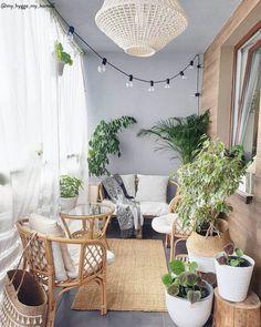 Small Balcony Design, Small Balcony Decor, Balcony Decoration, Outdoor Balcony, Small Balcony Furniture, Patio Balcony Ideas, Apartment Balcony Garden, Interior Balcony, Balcony Plants