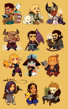 """Collect all 12 of your favorite companions and advisors! 2"""" Gold Acrylic Charms. Comes with gold bell, lariat, and decoration. If you order a set while one is sold out, I will put those charms down for preorder, and ship the others out separately. PLEASE NOTE THIS WHEN ORDERING."""