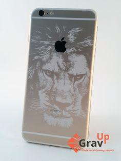 Graviertes iPhone 6 mit grossem Löwen