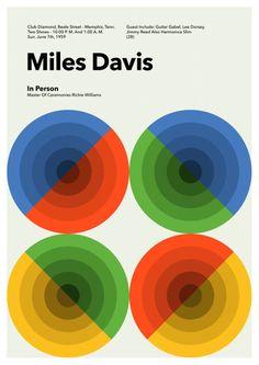 "Miles Davis & John Coltrane  - 24"" POSTER  - Jazz MASTER print - Jimmy Reed 1959"