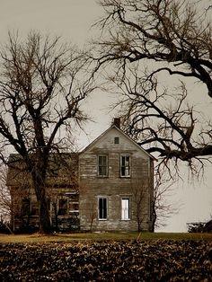 Abandoned farmhouse beautiful photo