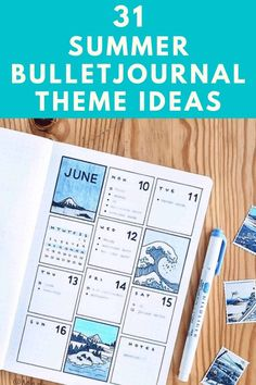 31 Summer Bullet Journal Ideas - Can you believe that it's Summer? Where has this year gone? If you are like me then you are ready to get productive in your bullet journal by creating a wicked bucket list but you also want to take some time to get creative! I have compiled a giant list of Summer bullet journal theme ideas that you are going to love!