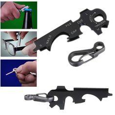 8-in-1 Keychain Gadget Utility Key Ring EDC Multi-function Pocket Tool Survival