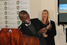 #MandelaMarathon Address by #Ambassador @MakhosiKhoza1 LOL Pgm Director in hysterics!