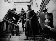 Super Hero, a  brilliant series by Aran Harahap that features iconic superheroes and villains interacting in vintage war photographs…