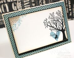 Card inside, love the text paper peaking through. Card by Teneale Williams