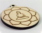 Engraved Wooden Keychain (Hamsa). €6,00, via Etsy.