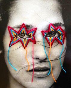 turecepcja: Victoria Villasana - Yarn bombastic | Lustik Textile Design, Textile Art, Photography Series, Victoria, Thread Art, Art Courses, A Level Art, Textiles, Crochet Cross