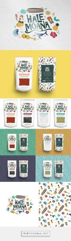 Hale Moana / Hawaiian seasonings by Ivy Pangilinan Cool Packaging, Food Packaging Design, Coffee Packaging, Packaging Design Inspiration, Graphic Design Inspiration, Chocolate Packaging, Moana Hawaiian, Identity Design, Brand Identity