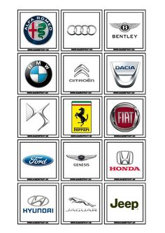 Cute Stitch, Fun Learning, Fiat, Jaguar, Ferrari, Jeep, Montessori, Petra, Bento