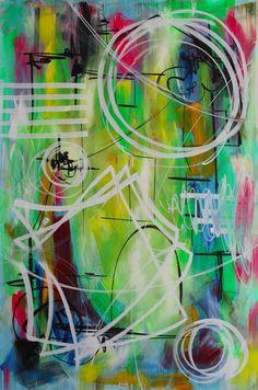 """Saatchi Online Artist: Yuliya Vladkovska; Acrylic, 2013, Painting """"One very confused spring II"""""""