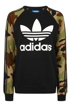Sweat-shirt camouflage avec trèfle, adidas Originals