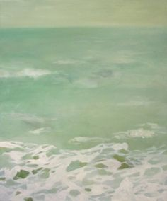 Aqua ocean painting
