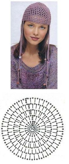 "Patrones de Crochet. Gorro ""Abba"" by angelia.69"