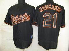 9d2a45b18 MLB baltimore orioles 21 Markakis Black shadow Fashion Jerseys ID 2072  Price  24