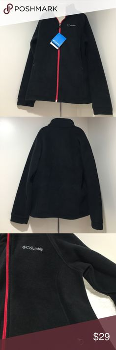 NWT Girls Black with Red Zipper Columbia Fleece NWT Girls Three Lakes Full Zip Fleece Jacket pockets are red zipper comes from a smoke & pet free home thanks for visiting my closet HAPPY POSHING💕 Columbia Jackets & Coats