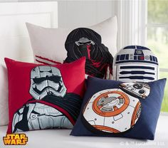 Star Wars Kylo Ren Euro Sham - Droids Star Wars - Ideas of Droids Star Wars - Kylo Ren Euro Sham> Star Wars Decorative Pillows Barn Kids Star Wars Decor, Decoration Star Wars, Kids Pillows, Throw Pillows, Owl Pillows, Burlap Pillows, Boy Room, Kids Room, Star Wars Zimmer