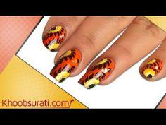 halloween orange nail art dane - khoobsurati.com
