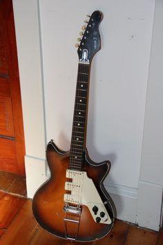 Vintage 1960's Egmond Super Solid 7 Electric Guitar Original 3 Pickups