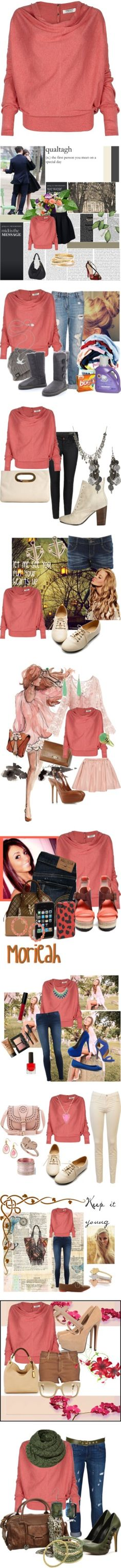 """Sets I Love with the Elgar Cowl Neck Jumper"" by ana-soro ❤ liked on Polyvore"