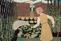 Tirzah Garwood's embroidery Vegetable Garden, circa 1933