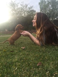 Meredith Foster with her new puppy go check out her vlog channel to see the both of them