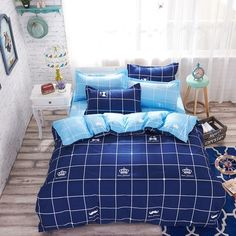 Two-Tone Reversible 4 Piece Bedding Set 18 Colors To Choose From