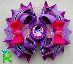 Hey, I found this really awesome Etsy listing at https://www.etsy.com/listing/219142020/littlest-pet-shop-hair-bow-zoe-ott-bow