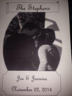 Personalized digital couple print