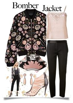 """""""Light Topping:  Summer Bomber Jackets"""" by easy-dressing ❤ liked on Polyvore featuring Needle & Thread, Victoria Beckham, Mes Demoiselles..., ADORNIA, Alexander McQueen, Brian Atwood, WhatToWear, bomberjackets, polyvoreeditorial and polyvorecontest"""