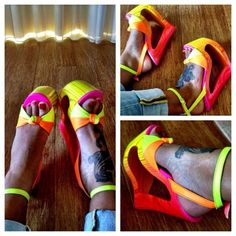 cute tat and sandals!