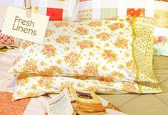 Sew4Home banded pillowcases; note the comments section for refiguring fabric for larger or smaller pillows.