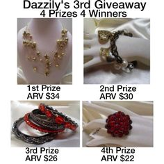 Dazzily's 3rd Giveaway! 4 Prizes 4 Winners