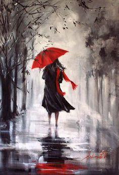 390 Ideas De Caminando Bajo La Lluvia Arte De Paraguas Pinturas Lluvia