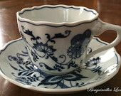 Blue Danube Cup and Saucer - Rectangular Marking