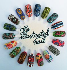African Print Nail Designs