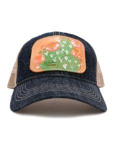 774b045b1ec Western Trucker Baseball Cap by McIntire Saddlery Tooled  amp  Painted  Cactus Hat  McIntireSaddlery Cactus