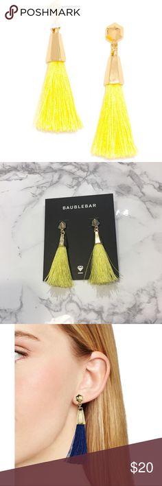 Baublebar Tassel Earrings BaubleBar yellow tassel earrings. Like new!                       •n o  t r a d e s• •s m o k e  f r e e / p e t  f r e e  h o m e•   •s a m e / n e x t  d a y  s h i p p i n g• baublebar Jewelry Earrings