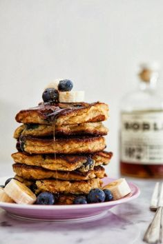 Blueberry, Banana Pancakes