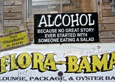 Flora-Bama - famous honky tonk beach bar on the Alabama / Florida state line in Orange Beach, Alabama.