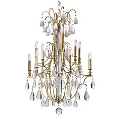 Buy Crawford 12 Light Chandelier by Hudson Valley Lighting - Made-to-Order designer Chandeliers from Dering Hall's collection of Traditional Lighting.