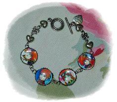 GIN TAMA Gintama 銀魂 Silver Soul Kagura anime Cabochon Bracelet by MySecretGardenHK on Etsy